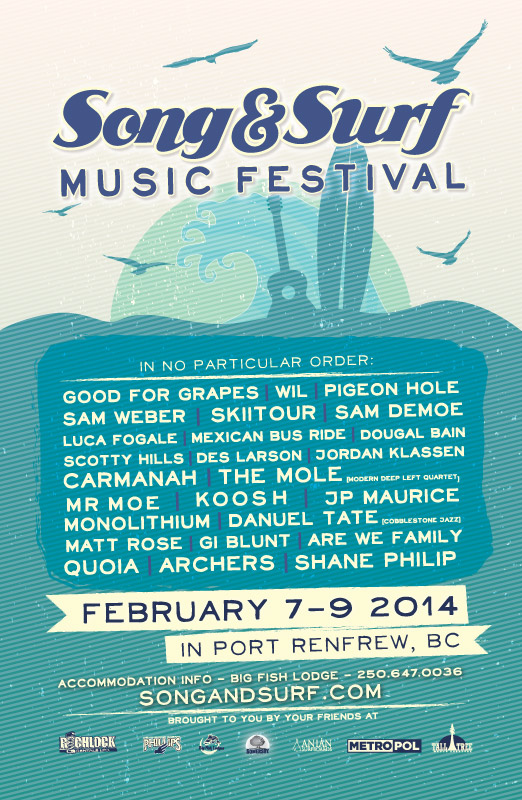 Song and Surf Music Festival 2014 Final Lineup!