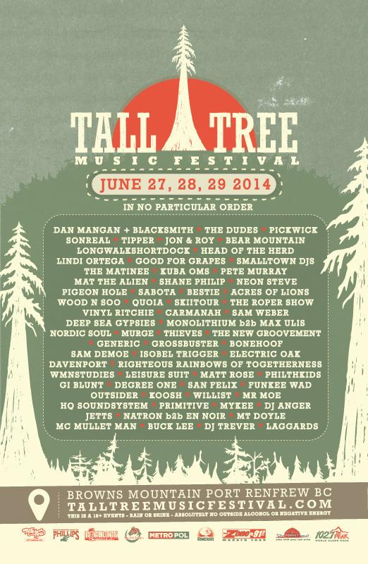 Tall Tree Lineup Poster