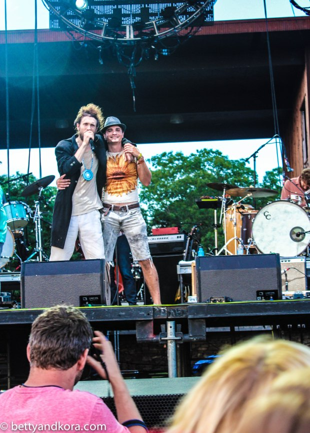 Our good friend Tucker on stage with Edward Sharpe and the Magnetic Zeros