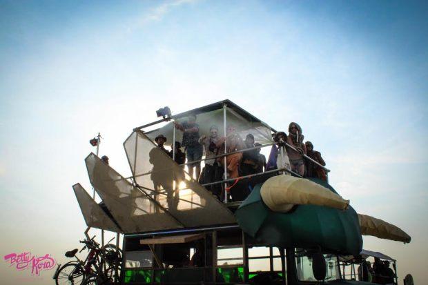 Boogaloo killing it at Burning Man